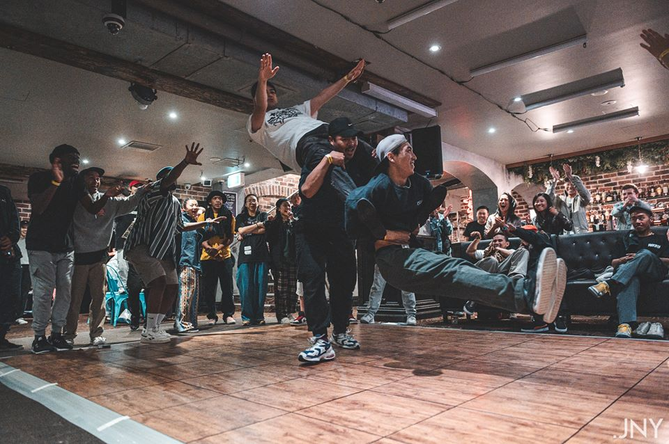 Dancers Keanu, Kenny and Lok pull off an epic routine