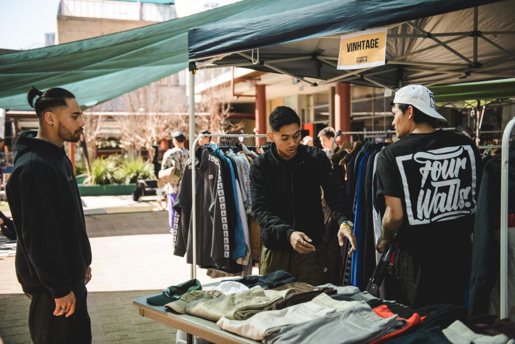 Street wear vendor stall