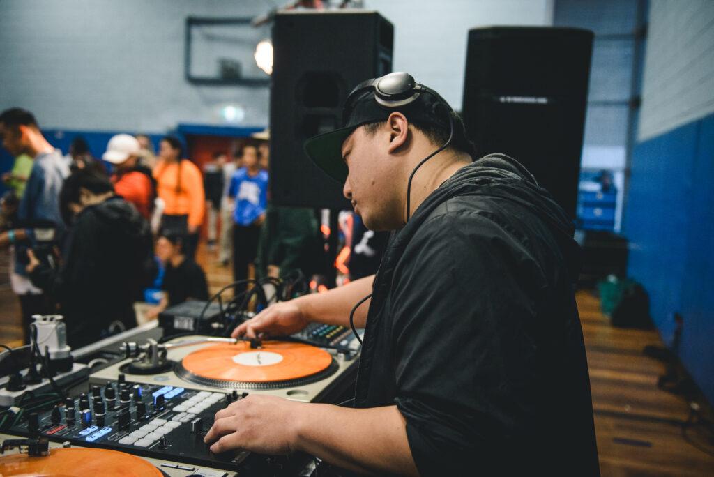 DJ Bolo spinning tracks